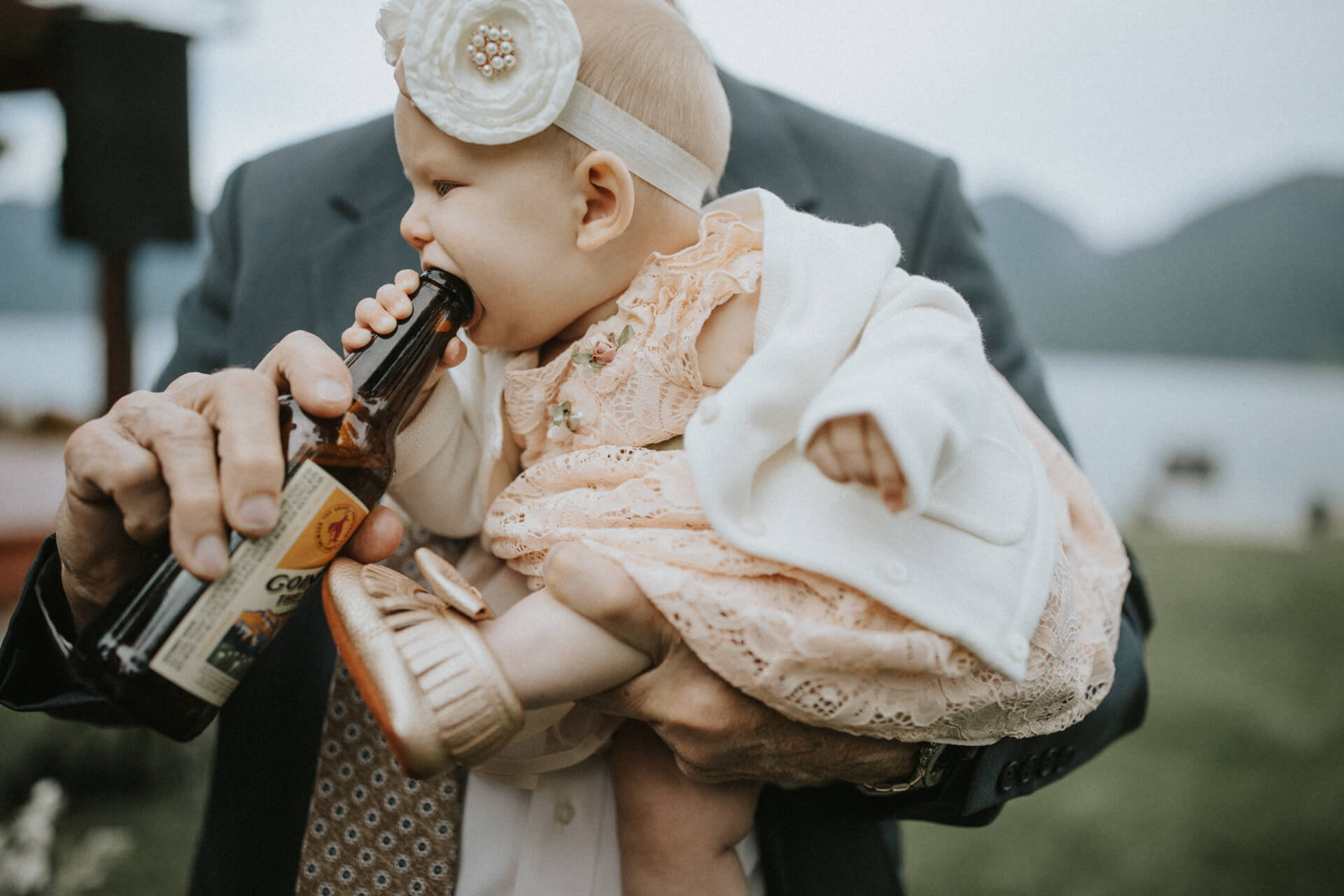 baby at a wedding